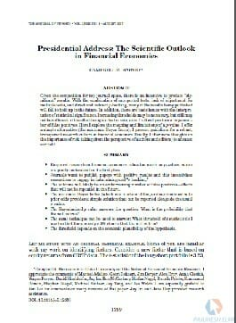 مقاله انگلیسی اقتصاد مالی