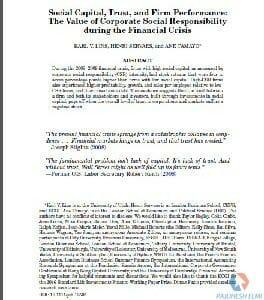 مقاله انگلیسی سرمایه اجتماعی